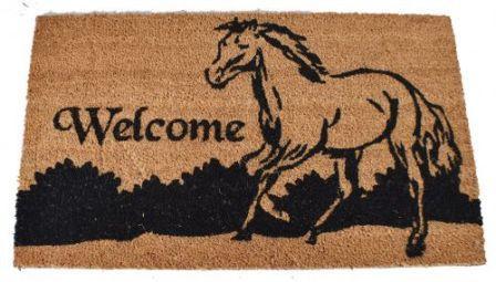 Fußmatte Running Horse Welcome
