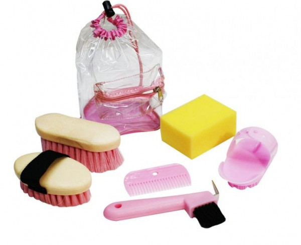 6 teiliges pinkes Kid Size Grooming Set