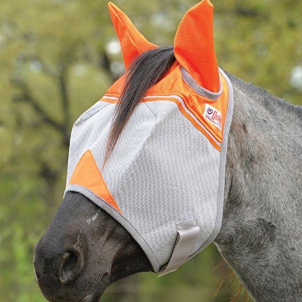 Crusader orange Fliegenmaske mit Ohren