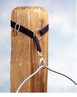 Praktische und flexible Aufhängung für Eimer, Heunetze etc.