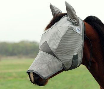 Crusader Fly Mask Cashel UV-Schutz Fliegenmaske Ohren und Nase