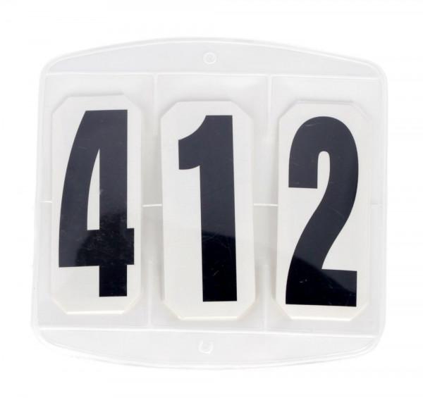 Kerbl Turniernummern 3-stellig paarweise mit Klettverschluss